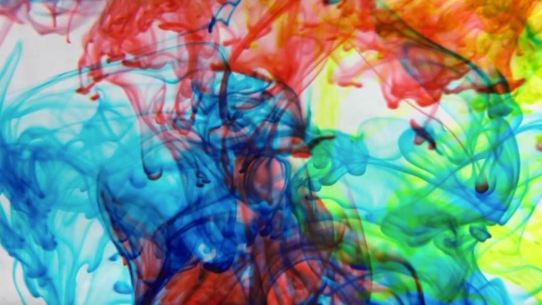 Fluid Color in motion, process art