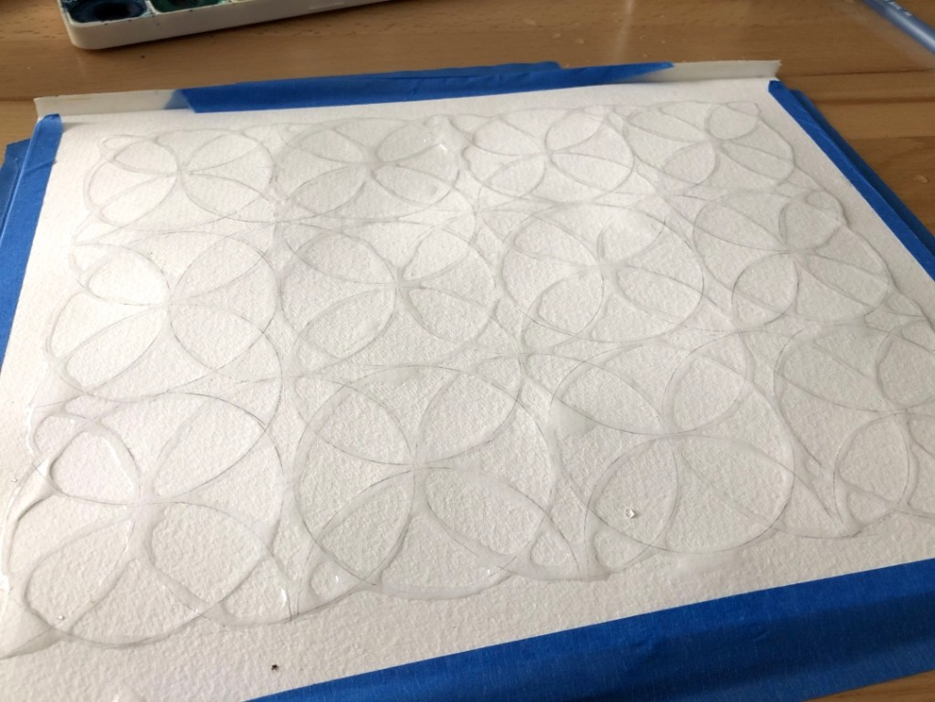 water drawing, flower of life
