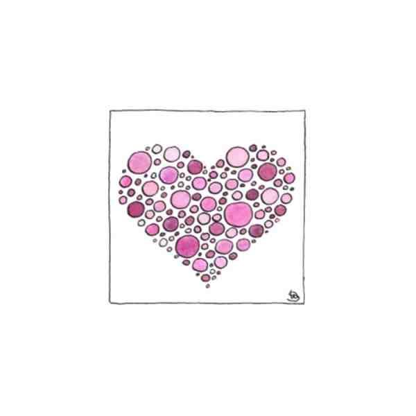 Karte Herzenskunst Herz
