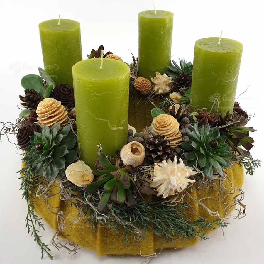 Adventkasten Grün Filz