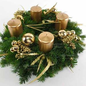 Adventkranz Gold