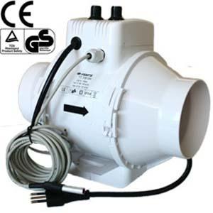 Estrattore TT 125mm - 280mc/h + Controller