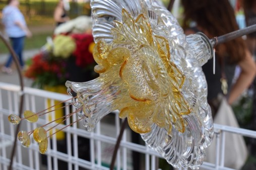 Closeup ~ Gold Murano, Petal & Egg