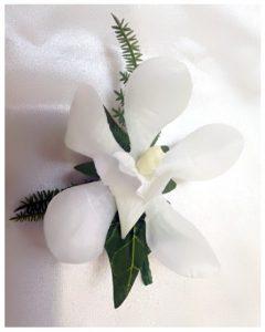 Orchid buttonhole.