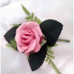Mini pink rose buttonhole