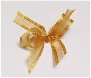 Dark gold organza ribbon