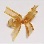 Dark gold organza ribbon