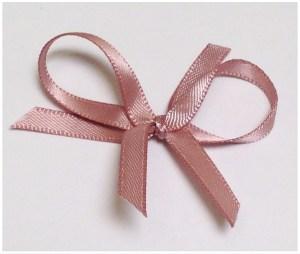 Dusty pink satin ribbon