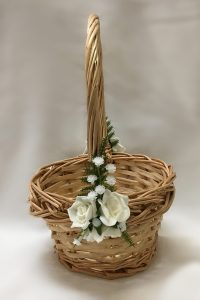 Natural cane basket for flowergirl.
