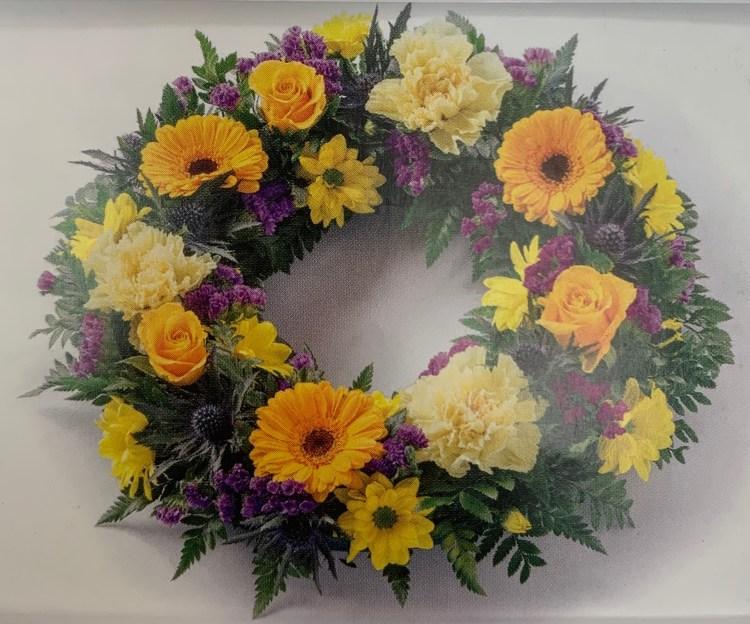 Carnation and Gerbera Wreath