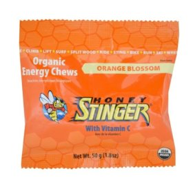 Honey Stinger Orange Blossom Organic  Energy Chews, 1.8-Ounce Bags (Pack of 12)