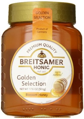 Breitsamer Golden Selection Honey Jar, 17.6 Ounce