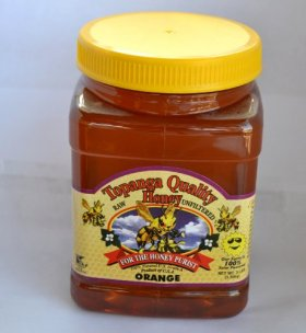Topanga Quality Honey (Orange Floral Source) Raw, Unfiltered, Unpasturized, Best Quality, All Natural, Kosher – 3 Pounds Each