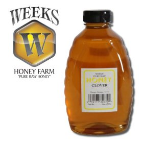 16oz (1lb) – Clover Honey – Pure, Raw, Unfiltered, Unheated