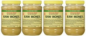 Y.s. Eco Bee Farms Raw Honey – 22 Oz Jars (4 Count (22oz Each))
