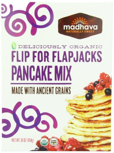 Madhava Organic Pancake Mix with Ancient Grains Flip for
