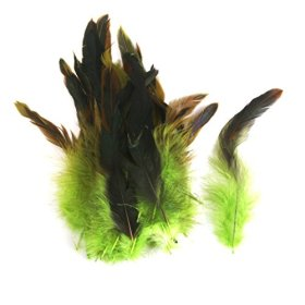 Wholesale 50 beautiful feathers 12-18cm / 4-7inch Green