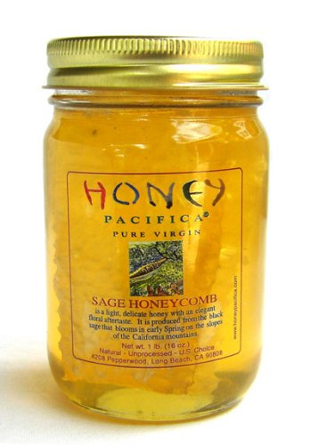 Raw Honeycomb with Sage Honey by Honey Pacifica – Unheated & Unprocessed – California Honey