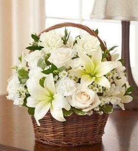 1-800-Flowers – Peace, Prayers, & Blessings- All White – Medium