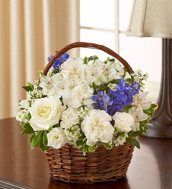 1-800-Flowers – Peace, Prayers & Blessings – Blue and White – Small