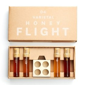Varietal Honey Flight consisting of 4 Cheese complimenting 1 ounce vials, pure raw honey, natural and unprocessed, great gift,