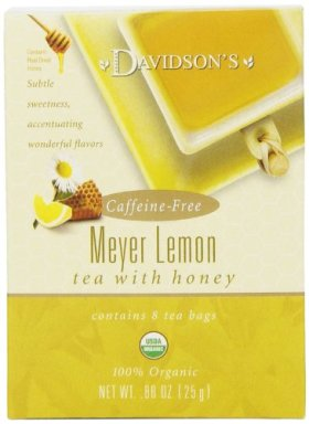 Davidson's Tea Meyer Lemon, 8-Count Tea Bags (Pack of 12)