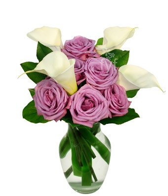 From You Flowers – Easter – Purple Rose and Calla Lily Bouquet