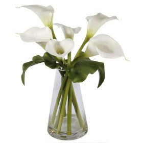 Calla Lilies in Glass Vase