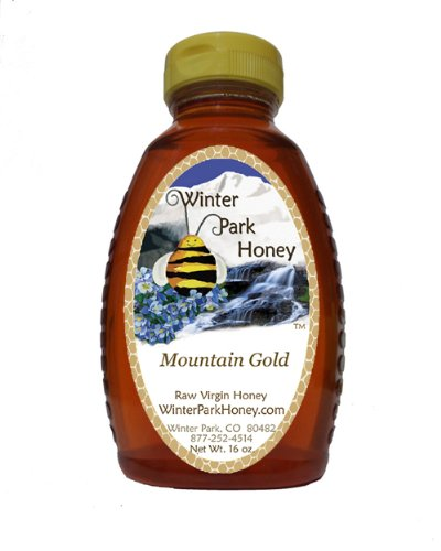 Winter Park Honey Mountain Gold (Pure Natural Raw Colorado Wildflower Honey) 16oz