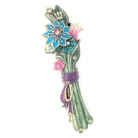 Flower Bouquet Mezuzah by Quest Collection