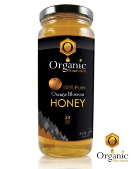 Organic Mountains 100% Pure Honey – Orange Blossom (Raw & Unfiltered)