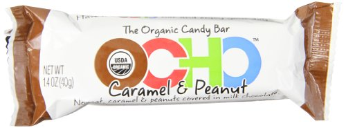 OCHO Organic Candy Bar, Caramel & Peanut, 1.4 Ounce (Pack of 18)