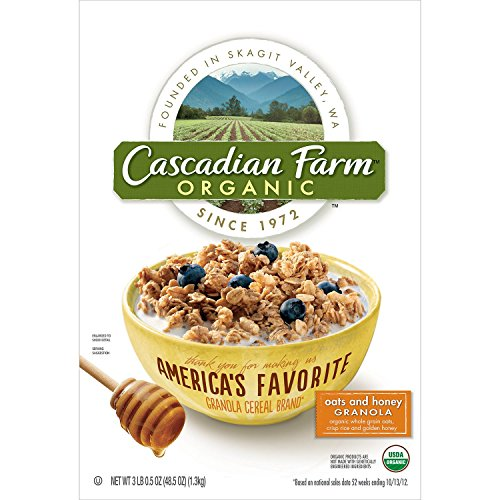 Cascadian Farm Organic Oats and Honey Granola, 48.5 Ounce