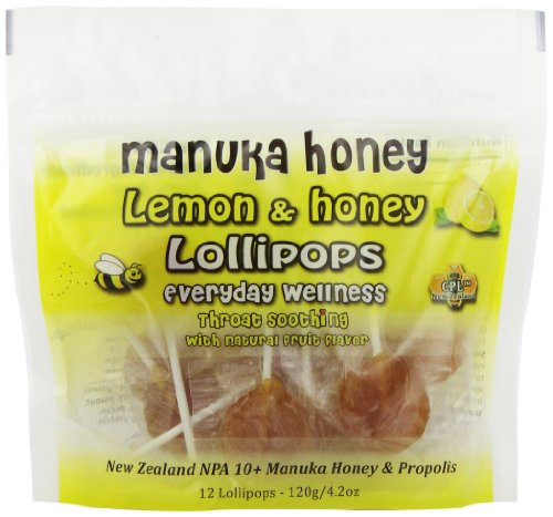 Pacific Resources Children's Lollipops, Lemon and Manuka Honey, 120-Gram