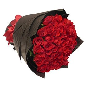 2 Dozen Farm Fresh Red Roses Bouquet By JustFreshRoses | Long Stem Fresh Red Rose Delivery