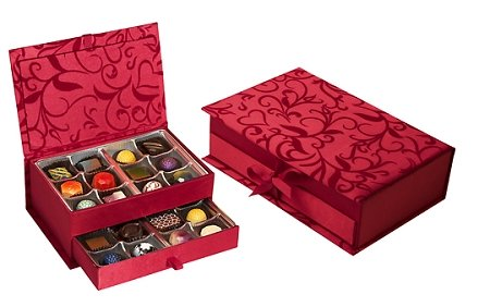 Valentine's Day Sugar Free Elegant Jewelry Box with assorted Chocolates by Diabetic Candy perfect for your Valentine or for Mom, Dad, Girlfriend, Boyfriend, Wife or Husband