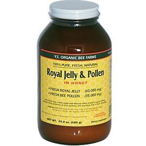 Fresh Royal Jelly + Bee Pollen, Honey Mix – 40,000 mg YS Eco Bee Farms 23.0 oz.