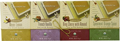 Davidson's Tea Honey Teas, 4 Pack, 0.88 Ounce Box