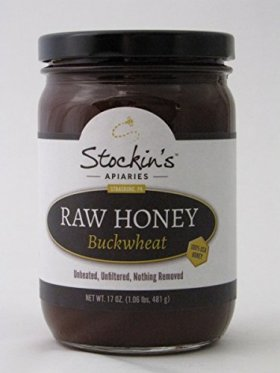Stockin's Unheated and Unfiltered Raw Buckwheat Honey, 17 Oz. Jar (Pack of 2)