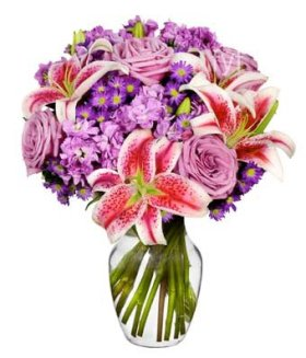 From You Flowers – Delivery – Lavender Bliss (FREE Vase Included)