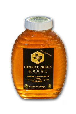 1lb (16 fl oz) Raw, Unfiltered Texas Honey