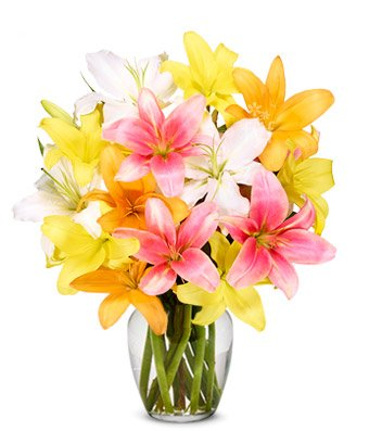 From You Flowers – Spring Lily Bouquet (FREE Vase Included)