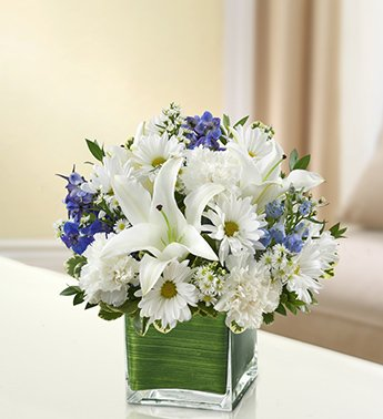 1-800-Flowers – Healing Tears – Blue and White – Small