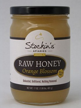 Stockin's Unprocessed Raw Orange Blossom Honey, 17 Oz. Jar