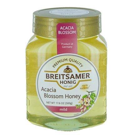 Breitsamer Honey in Jar, Acacia Mild, 17.6 Ounce (Pack of 6)
