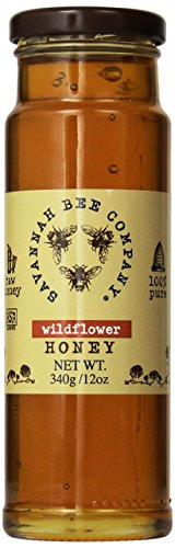 Savannah Bee Company Wildflower Honey (12 Ounce Tower Jar)