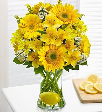 1-800-Flowers – Make Lemonade in a Vase – Large