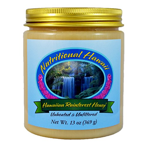 Hawaiian Rainforest Honey, 13 Ounce (Raw Natural Honey)