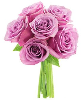 Bouquet of Long Stemmed Lavender Roses (Half Dozen) – Without Vase