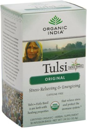 Organic India Tulsi, Original, 18-Count  Boxes  (Pack of 2)